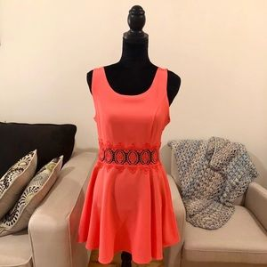 H&M Pink Fit Flare Tank Dress Size 10